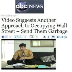 "ABC News helps promote #OWS via Twitter and ""news"" site."