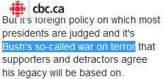 CBC- so-called war on terror