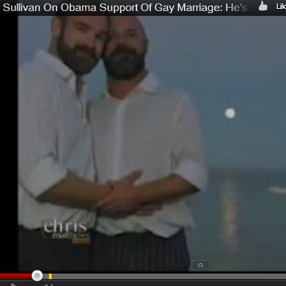 Andrew Sullivan and his husband on MSNBC's Hard Ball with Chris Matthews.