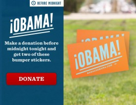 New Obama bumper stickers are for people of another land.