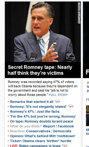 CNN and others purposely misrepresenting what Romney said. The perfidy of the media is amazing.