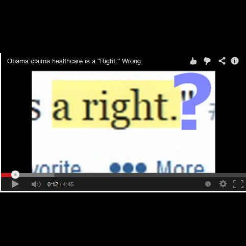 "Obama Claimed Healthcare Is ""A Right."" Well He's Wrong."