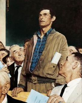 Liberals nightmare: Norman Rockwell-Freedom-of-Speech