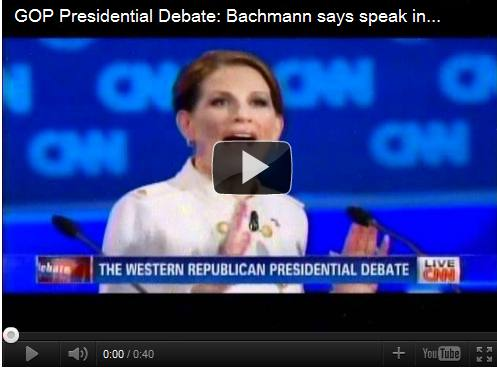 "Michele Bachmann wins debate because she said ""bold colors."""
