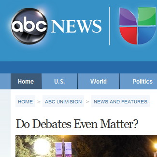 "Suddenly, liberal media's line is ""Debates Don't Matter."""