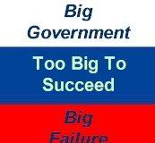 big government: big failure
