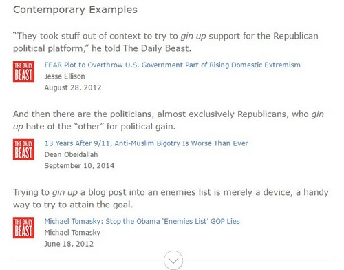 Dictionary.com with biased, anti-Republican examples