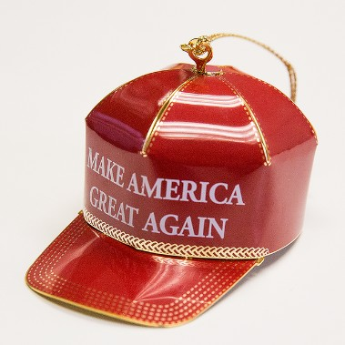 """Get ready for 4 to 8 years of picayune media. Today: sneers at """"Make America Great Again"""" Christmas ornament"""