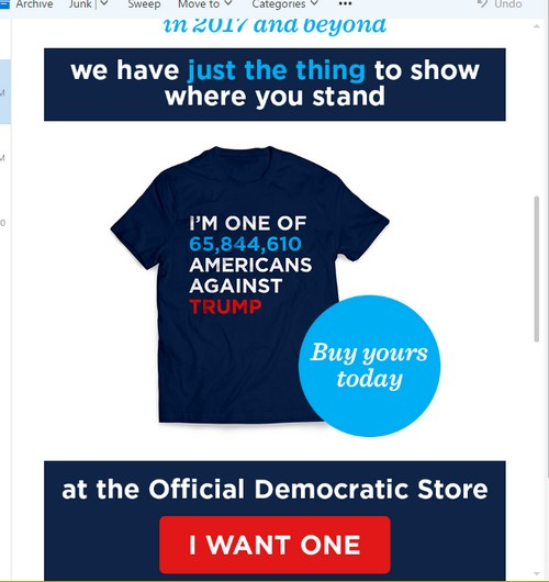 Dems sell sad post-election shirts to express dour feelings and non-acceptance of election results